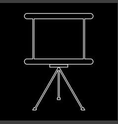 business presentation board the white path icon vector image vector image
