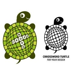 Crossword turtle vector image vector image