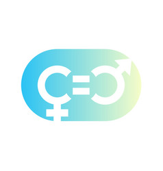 Gender equity symbol icon sign on white vector