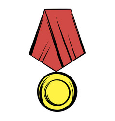 medal icon cartoon vector image