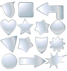 metal signs vector image vector image