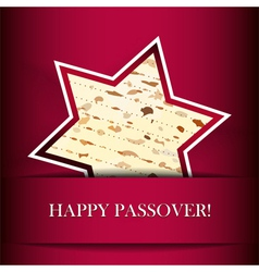 Passover card with matza Star of David shape vector image vector image