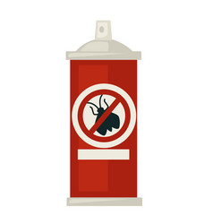 Spray against isects in red bottle isolated vector