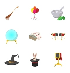 Witchcraft icons set cartoon style vector image vector image