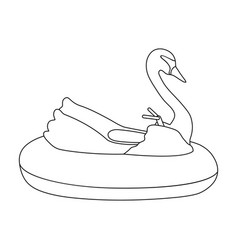 A boat for children in the shape of a swan vector