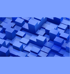 Abstract background of cubes and parallelepipeds vector