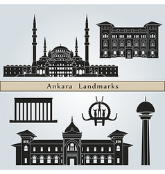 Ankara landmarks and monuments vector image