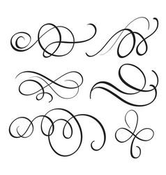 Art calligraphy flourish of vintage decorative vector