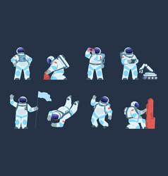 astronaut character cartoon spaceman design vector image