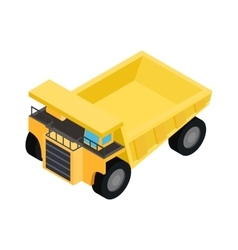 Big truck isometric 3d icon vector image