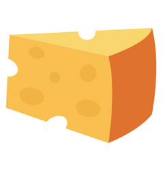 big yellow chesse on white background vector image