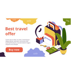 booking web page vector image