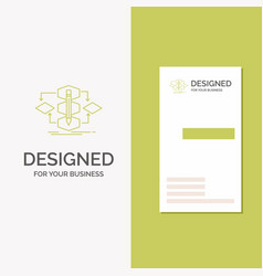 Business logo for algorithm design method model vector