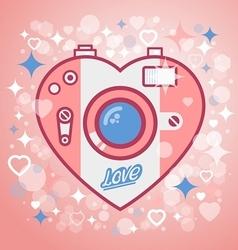 Camera love vector