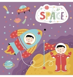 Cartoon about space vector