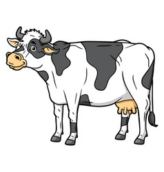 cartoon dairy cattle vector image