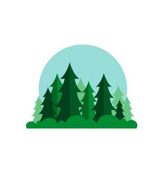 cartoon forest wood landscape vector image