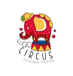 circus logo original design creative badge with vector image