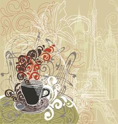 Coffee in a paris cafe vector