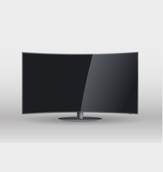 Curved screen smart tv vector