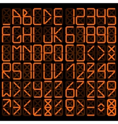 Digital alphabet vector image
