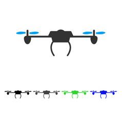 Drone flat icon vector