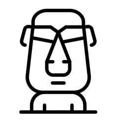 Easter island tiki head icon outline style vector