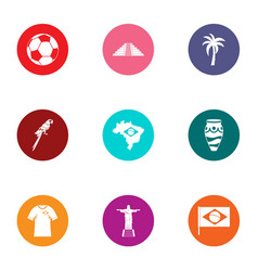 Easy life icons set flat style vector