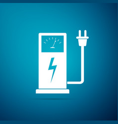 electric car charging station icon isolated vector image