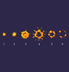 explosion frames for animation vector image