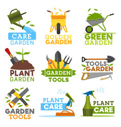 Farm gardening and planting tools icons vector
