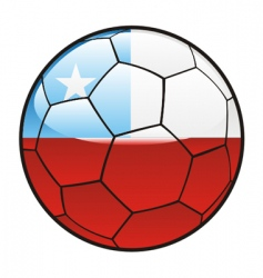 Flag of Chile on soccer ball vector