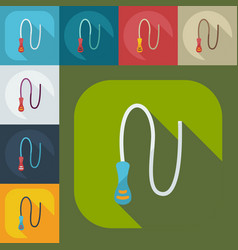 Flat modern design with shadow icons whip vector