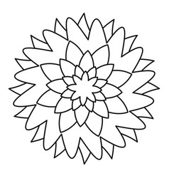 flower icon outline style vector image