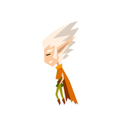 forest elf boy with white hair cute fairytale vector image