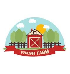 Fresh farm icon bio organic eco healthy food vector