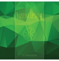 glass banner on polygonal background vector image