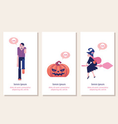 halloween vertical banners set with traditional vector image