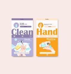 Hand sanitizer instagram template design vector