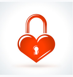 heart shaped lock st valentines day design vector image