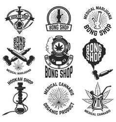 Hookah shop bong shop cannabis images for logo vector