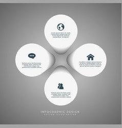 infographic with icons vector image