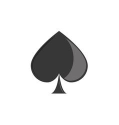 isolated casino spades flat design vector image