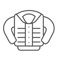 Jacket thin line icon clothing vector