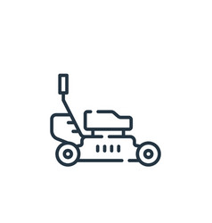 Lawnmower icon isolated on white background vector