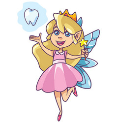 little tooth fairy on white vector image