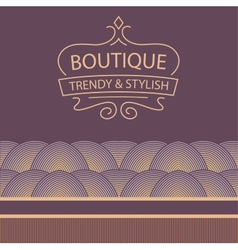 Logo for boutique clothing accessories jewelry and vector