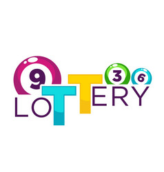 lottery bright commercial logotype with numbered vector image