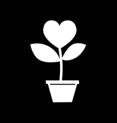 love tree icon design vector image
