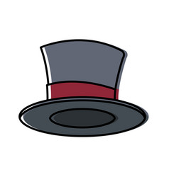 magician hat isolated vector image
